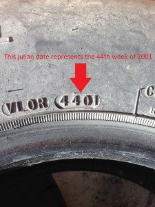 Location of your tire's Julian date