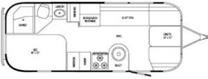 23D Flying Cloud Bunk Floor Plan