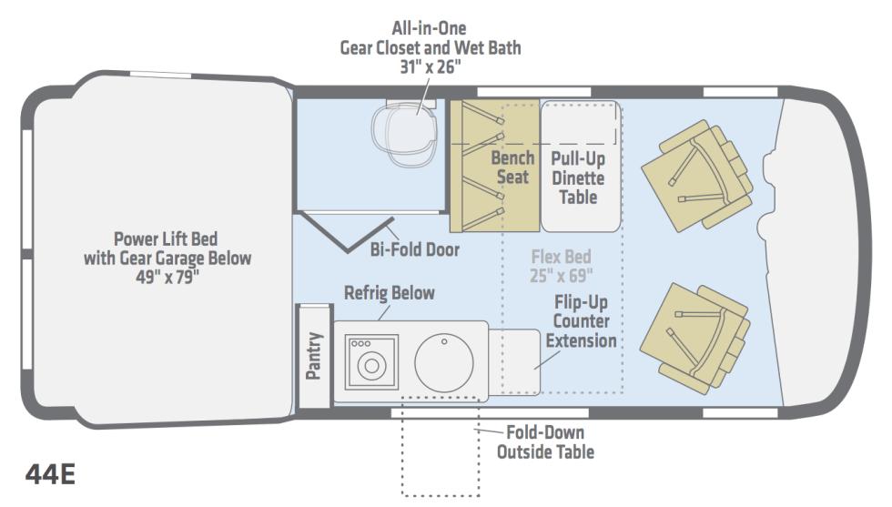 Winnebago Revel floorplan