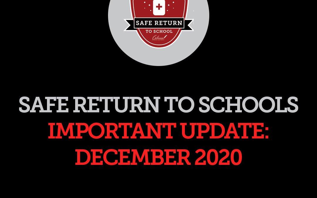 Safe Return to School Update: 12/4