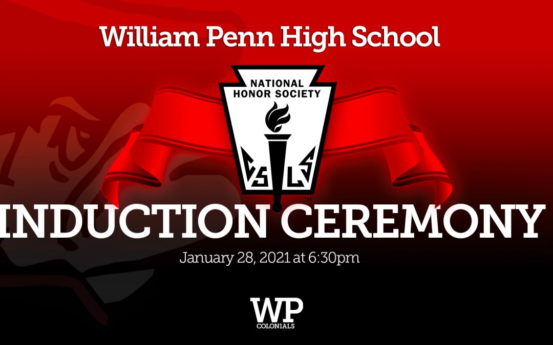 2021 William Penn High School National Honor Society Induction Ceremony