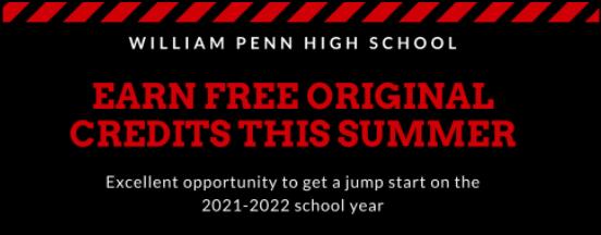 Summer Original Credit Program