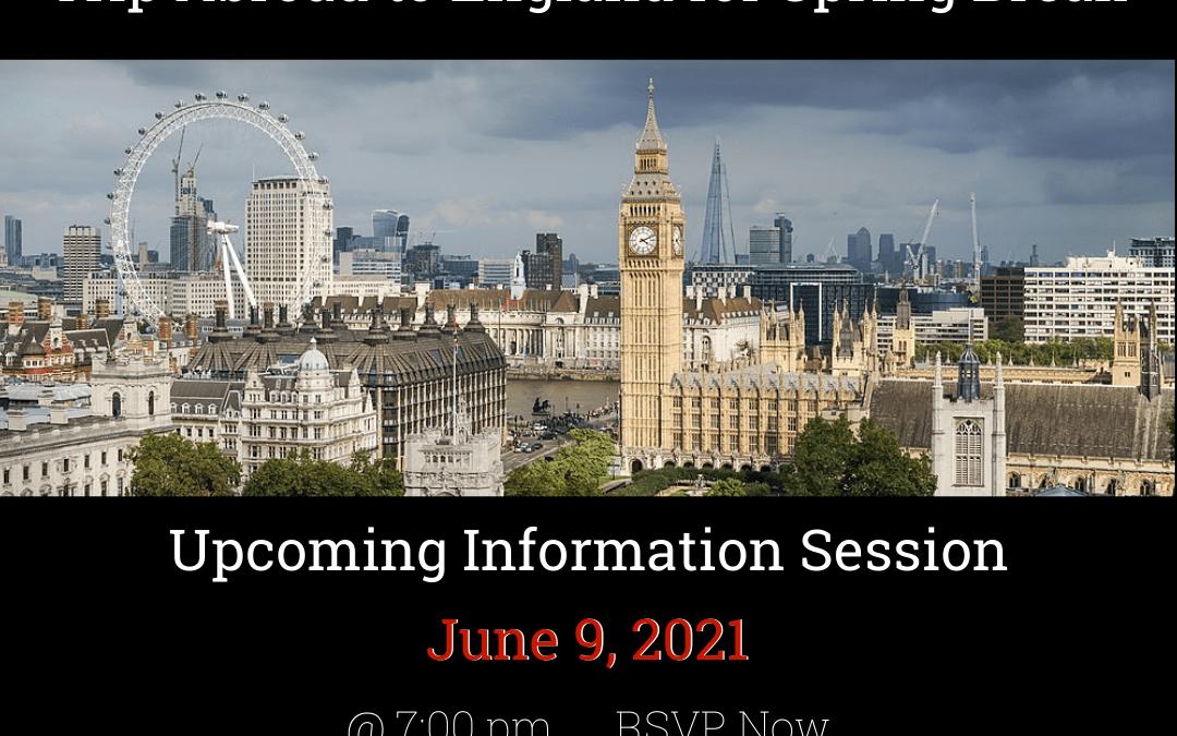 Class of 2023: Trip Abroad Interest Meeting June 9