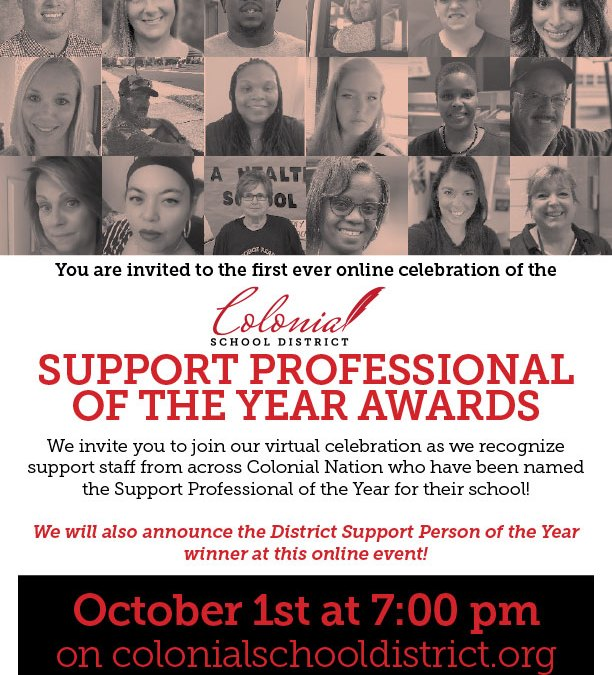 Educational Support Professional of the Year Awards – 10/1 at 7 pm