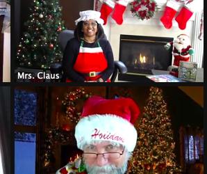 Una visita especial de Santa Zimm, la Sra. Clause y algunos Elfos de CSD