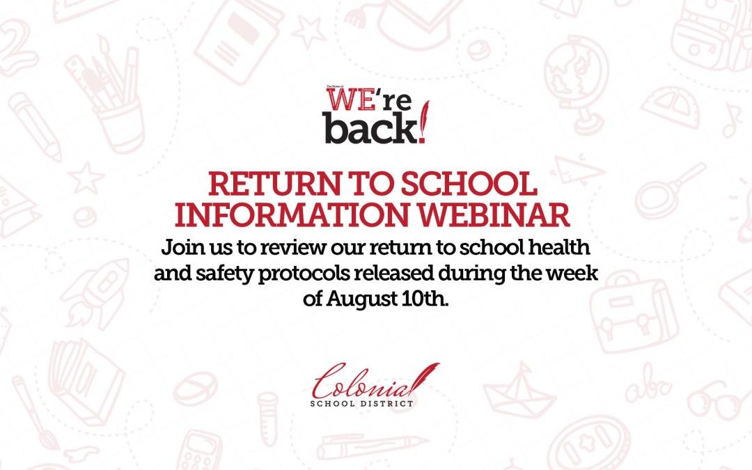 Koloni Dönemi Okula Dönüş Bilgisi Web Semineri