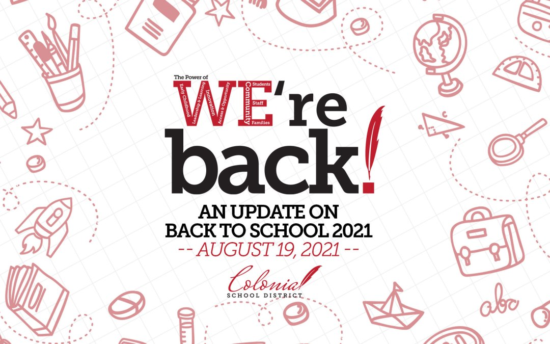 Actualización de regreso a clases - 19 de agosto de 2021