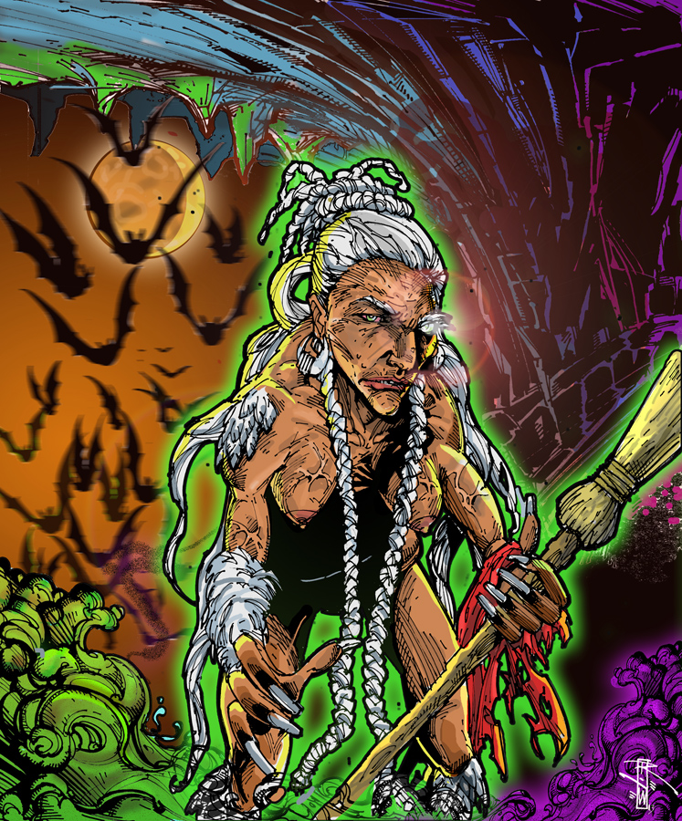 Interpretation of the Dominican legend of the Bruja by Artist-Illustrator Ray Wu