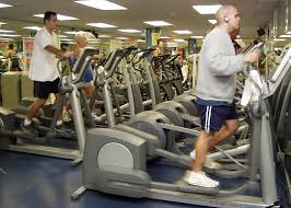 men using treadmill