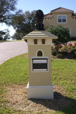 Stone Columns Interior Exterior Foam Banding Custom Mailboxes Commercial Signs