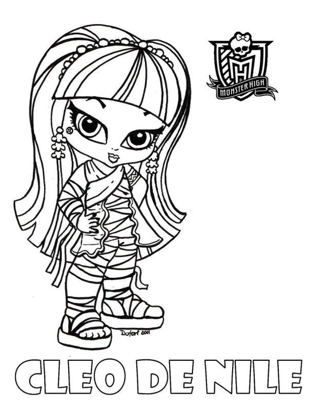 Coloriage Cleo de nile bebe à imprimer