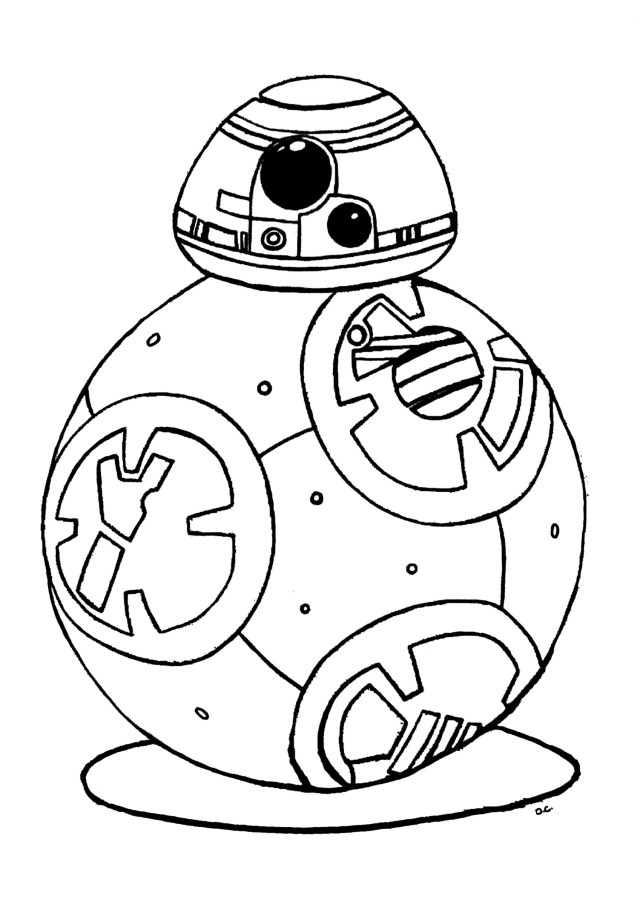 Coloriage robot BB-24 Star Wars à imprimer