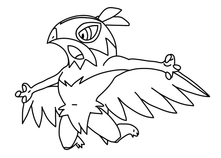 mega hawlucha pokemon coloring pages coloring pages