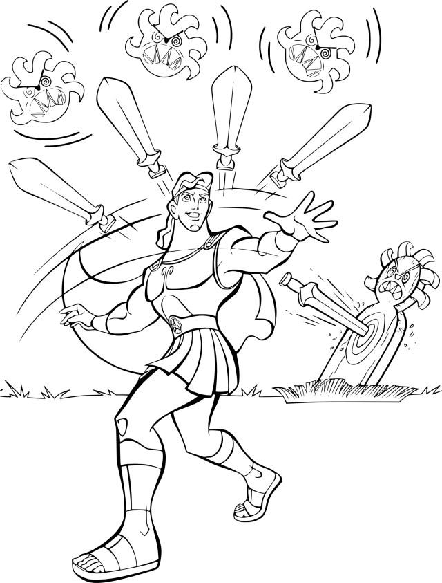 Coloriage Hercule gratuit à imprimer