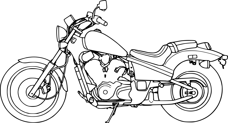 Coloriage Moto Honda A Imprimer