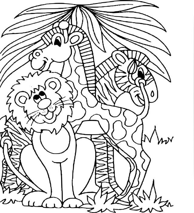 Coloriage animaux de zoo à imprimer