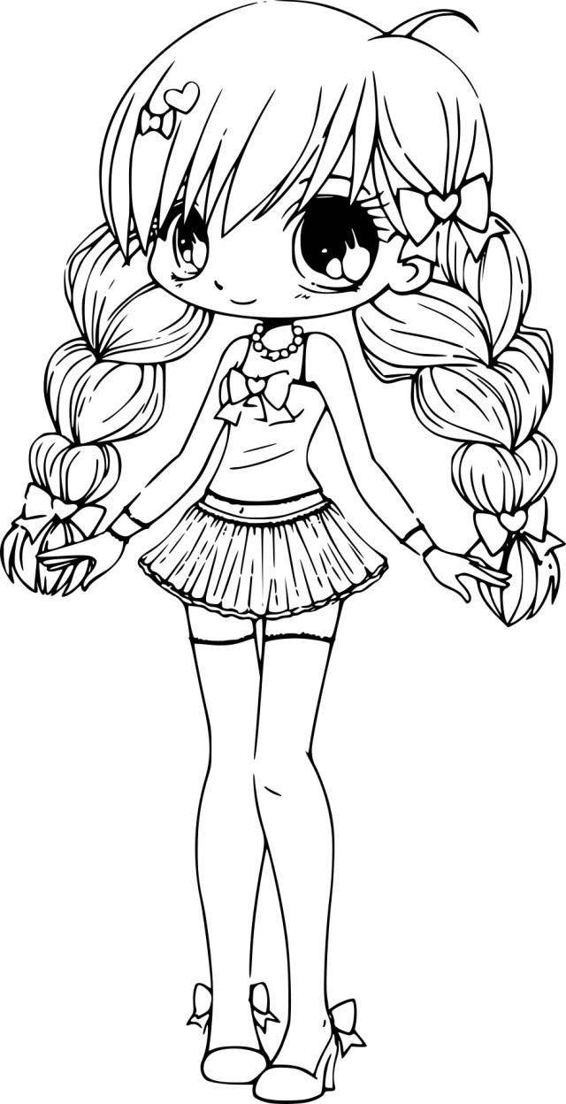 Coloriage Chibi princesse à imprimer