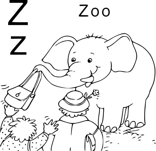 Coloriage Z comme Zoo à imprimer