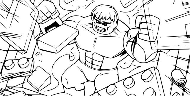 Coloriage Avengers lego à imprimer