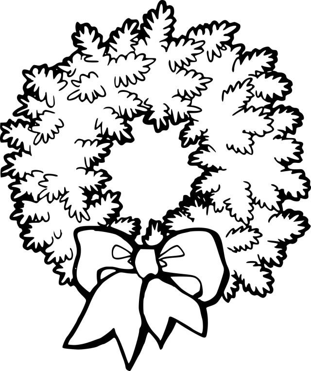 Coloriage couronne de Noel à imprimer