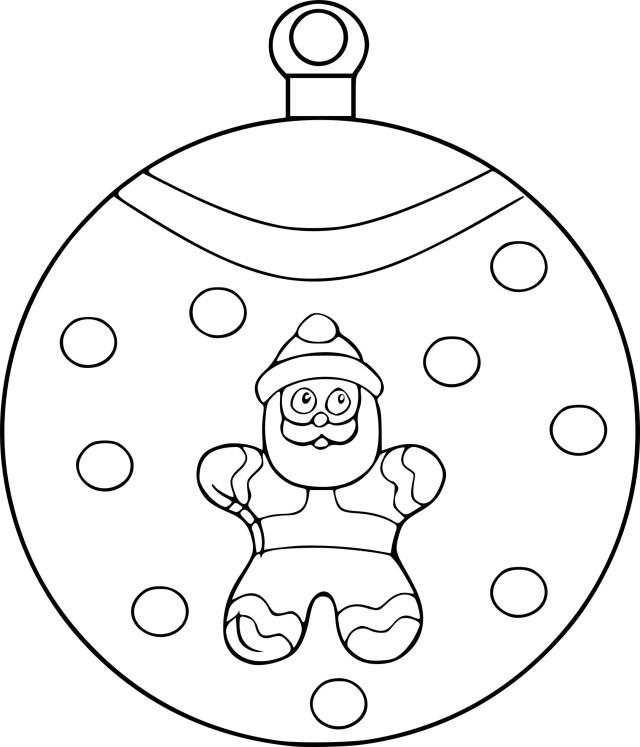 Coloriage boule père Noël à imprimer