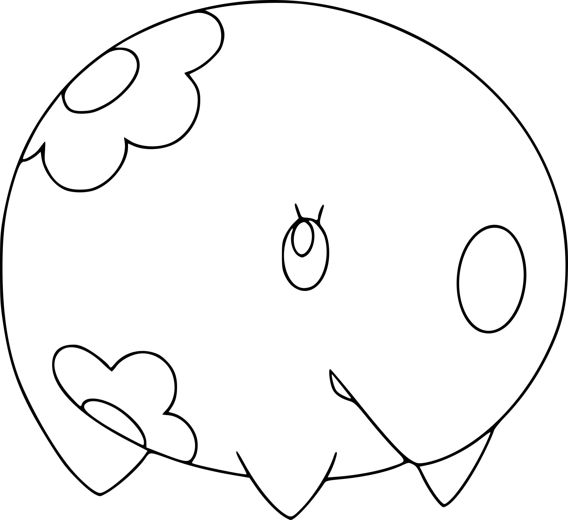 Coloriage Munna Pokemon A Imprimer