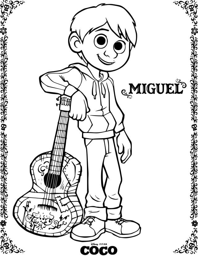 Coloriage Coco Miguel à imprimer