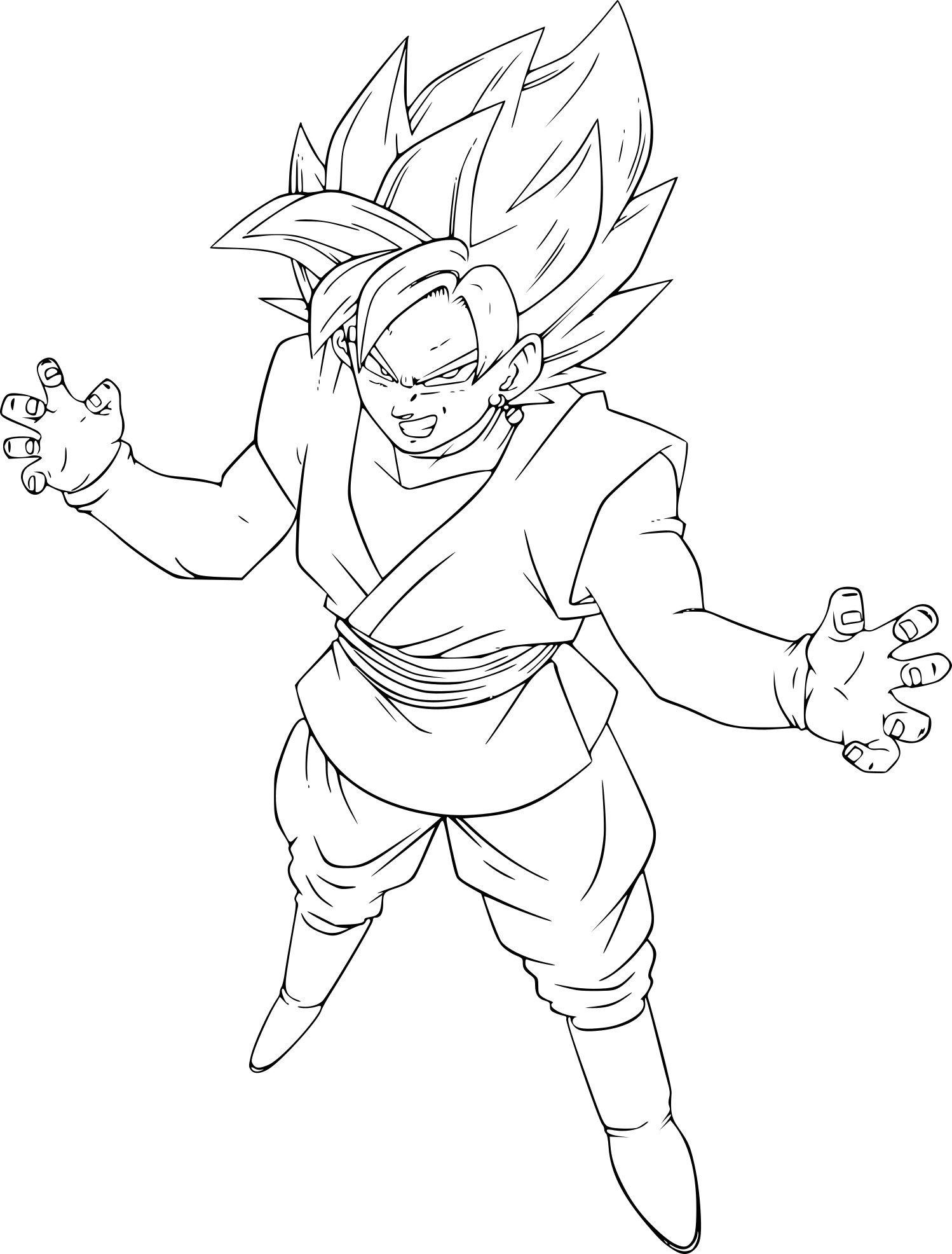 Coloriage Goku Black A Imprimer