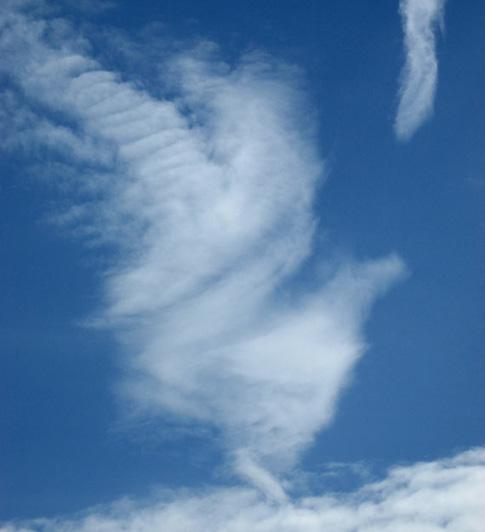 Les nuages s'amusent…
