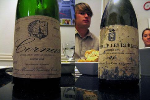 Sélection viticole du dîner au formage