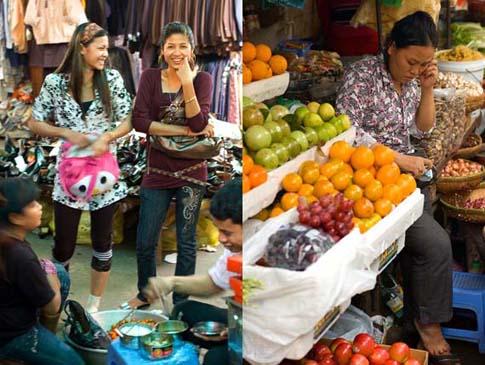 Le marché central de Phnom Penh - Phnom Peng central market