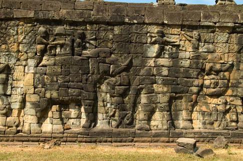 Angkor Thom - Terrasse des éléphants - Terrace of the Elephants