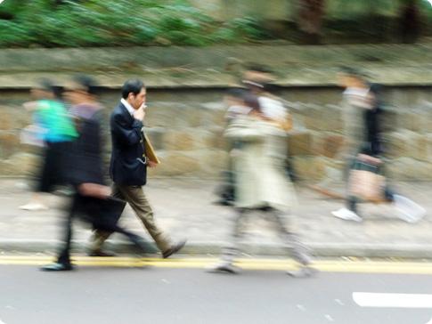 Les rues de Hong Kong le matin