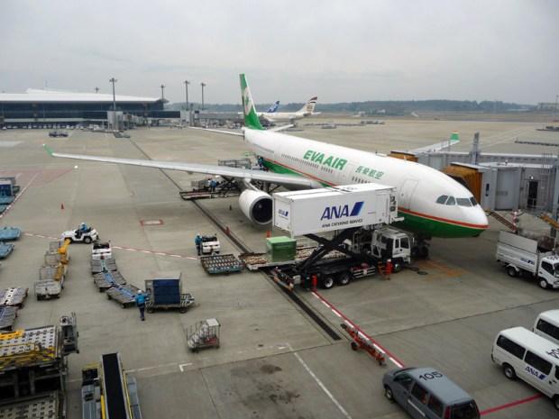 L'airbus de Eva air à l'arrivée à Narita - Tokyo