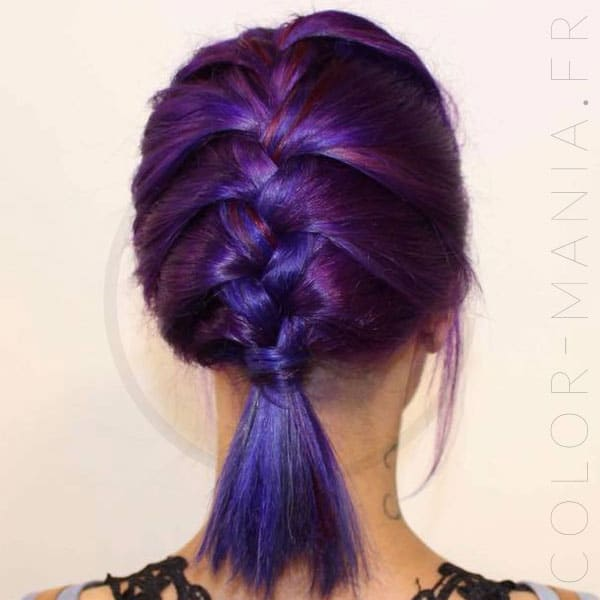 kit coloration cheveux violet rose