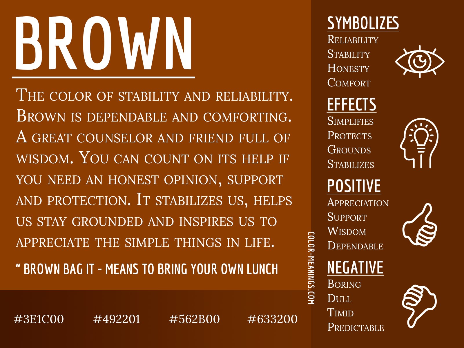 Brown Color Meaning The Color Brown Symbolizes Stability