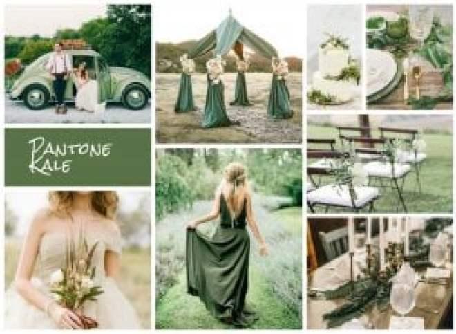 kale Pantone kale green for summer weddings