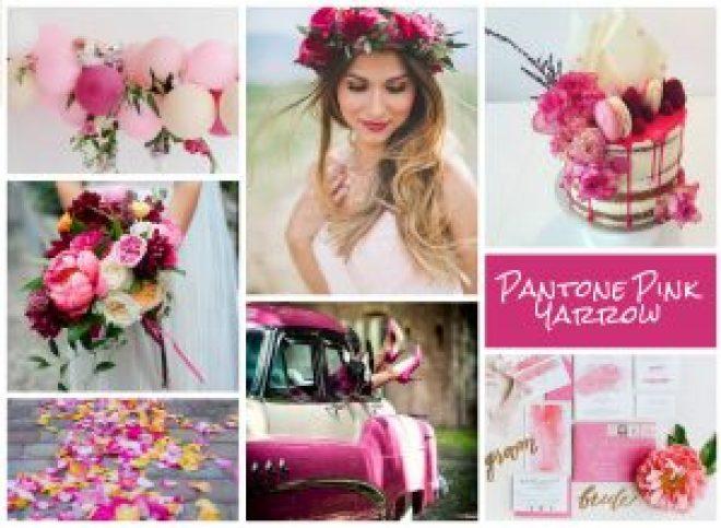 pantone pink yarrow summer weddings 2017-18