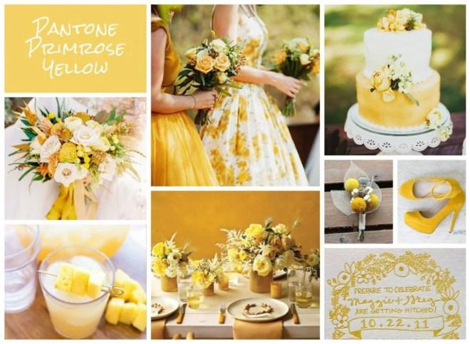 pantone primrose yellow for summer weddings