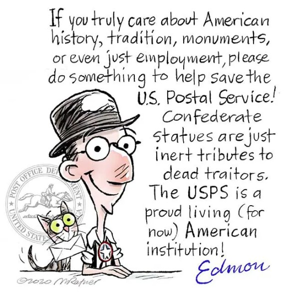 Edmon character asking help for USPS