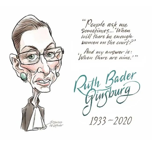 a quote from Ruth Bader Ginsburg