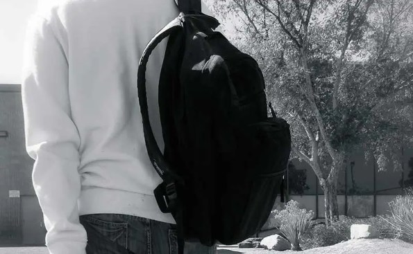 A person with a packbag