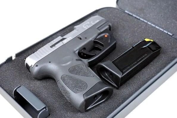 a gun placed in a case