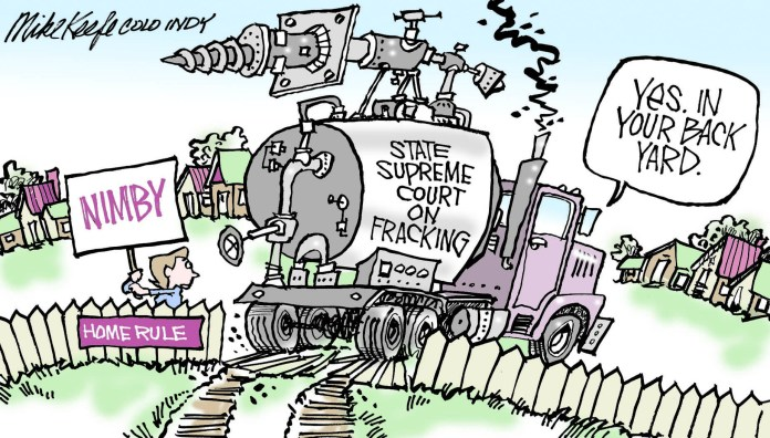 fracking, Colorado, Mike Keefe, political cartoon