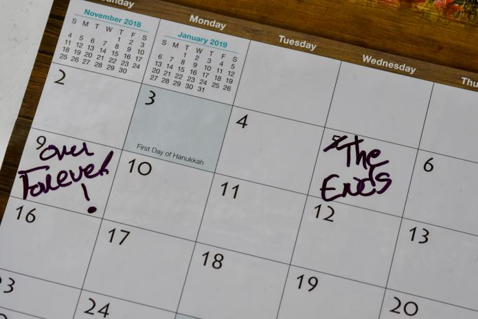 This calendar found in Daniel Pierce's home suggests he planned to end his life the week of his killing and lured Rangely police into a suicide-by-cop. (Photo by Kurt Miller)