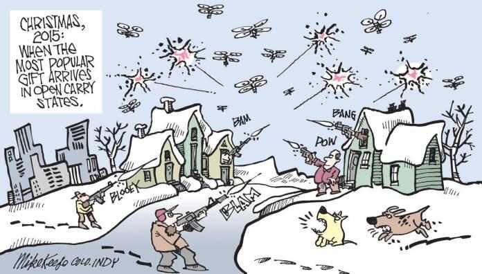 Guns, quadcopters, Christmas
