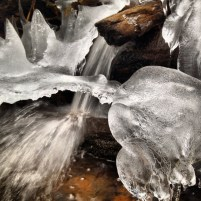 Small trickles of water in Meadow Creek, near Frisco, Colorado, turned into delicate frozen sculptures in early winter.