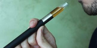 """Vaping Electronic Cigarette"" by Lindsay Fox via Flicker: Creative Commons"