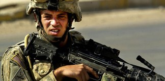 A U.S. soldier in Ramadi.