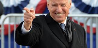 Then-Vice President Joe Biden at the 2013 Inaugural Parade in Washington. Photo by Adam Fagen via Flickr: Creative Commons.